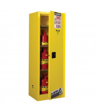 Justrite Sure-Grip EX Slimline 22 Gal Flammable Storage Cabinet (Shown in Yellow)