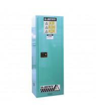 Just-Rite Sure-Grip EX 892202 Slimline One Door Corrosives Acids Steel Safety Cabinet, 22 Gallons, Blue