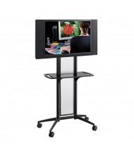 Safco Impromptu 8926BL 1-Shelf Flat Panel TV Cart, Black (example of use)