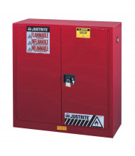 Justrite Sure-Grip EX 40 Gal Self-Closing Combustibles Storage Cabinet (Shown in Red)