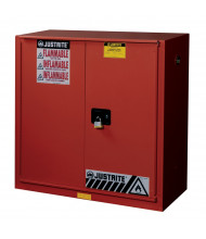 Justrite Sure-Grip EX 40 Gal Bi-Fold Self-Closing Combustibles Storage Cabinet (Shown in Red)