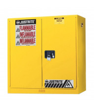 Just-Rite Sure-Grip EX 893400 Wall Mount Two Door Flammable Safety Cabinet, 20 Gallons, Yellow