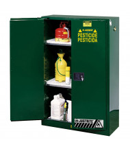Justrite Sure-Grip EX Self-Closing Pesticide Storage Cabinets