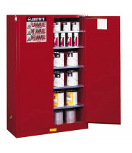 Justrite Sure-Grip EX 60 Gal Combustibles Storage Cabinet (Shown in Red)