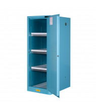 Just-Rite Sure-Grip EX 895422 Deep Slimline Self Close One Door Corrosives Acids Safety Cabinet, 54 Gallons, Blue