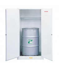 Just-Rite 8962053 Flammable Waste Vertical Two Door Drum Safety Cabinet, 55 Gallon Drum, White