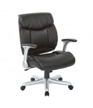 Office Star Work Smart Executive Eco-Leather Mid-Back Executive Office Chair (Shown in Black)