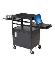 Balt 89875 Height Adjustable 2-Retractable Shelf Laptop AV Cart (example of use)