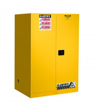 Justrite Sure-Grip EX Flammable Safety Storage Cabinets (Shown in Yellow)