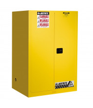 Justrite Sure-Grip EX Self-Closing Flammable Safety Storage Cabinets (Shown in Yellow)