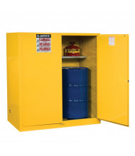 Justrite Sure-Grip EX Fire Resistant Drum Storage Cabinet with Drum Rollers (Shown in Yellow)