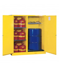 "Justrite Sure-Grip EX 115 Gal Self-Closing Drum Safety Storage Cabinet, 65"" H (Contents Not Included)"