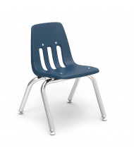 "Virco Classic 12"" Seat Height 4-Leg Stacking School Chair (navy)"
