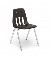 "Virco Classic 18"" Seat Height 4-Leg Stacking School Chair (black)"