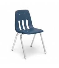 "Virco Classic 16"" H Classroom Stacking Chair in Navy, 4-Pack"