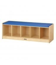 Jonti-Craft 5-Section Bench Storage Locker (Shown in Blue)