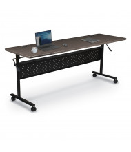 "Mooreco Essentials Economy 60"" W x 24"" D Nesting Flipper Training Table (Shown in Black)"
