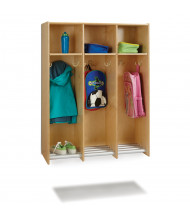 Jonti-Craft 3-Section Hanging Locker