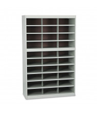 Safco E-Z Stor 30-Compartment Steel Mail Sorter, Grey