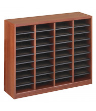 Safco E-Z Stor 36-Compartment Wood Mail Sorter (Shown in Cherry)