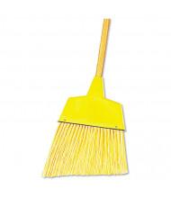 "Boardwalk 53"" L Plastic Bristle Angler Broom, Yellow, Pack of 12"