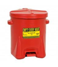 Eagle 6 Gallon Polyethylene Oily Waste Safety Can with Foot Lever (red)