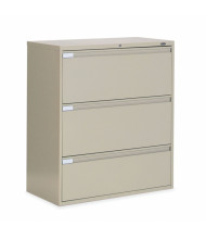 "Global 9342P-3F1H 3-Drawer 42"" Wide Lateral File Cabinet, Letter & Legal (Shown in Desert Putty)"