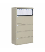 "Global 9336P-5F1H 5-Drawer 36"" Wide Lateral File Cabinet, Letter & Legal (Shown in Desert Putty)"