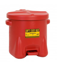 Eagle 10 Gallon Polyethylene Oily Waste Safety Can with Foot Lever (red)