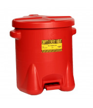 Eagle 14 Gallon Polyethylene Oily Waste Safety Can with Foot Lever (red)
