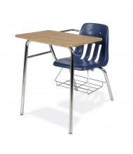 """Virco 20"""" x 25"""" Tablet Arm Combo Student Chair Desk"""