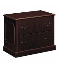 "HON 94223NN 2-Drawer 38"" Wide Lateral File Cabinet, Letter & Legal, Mahogany"