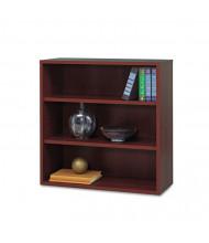 Safco Apres 9440MH 3-Shelf Open Laminate Bookcase in Mahogany Finish