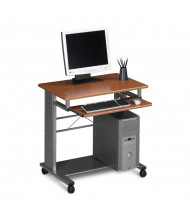 "Mayline Empire 945 29.75"" W Steel Mobile PC Workstation (Shown in Medium Cherry)"