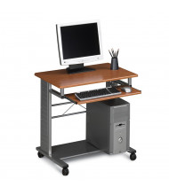 "Mayline Empire 945 29.75"" W Steel Mobile PC Workstation (Shown in Medium Cherry)"