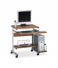 "Mayline Portrait 946 36.5"" W Steel PC Desk Cart Mobile Workstation (Shown in Medium Cherry)"