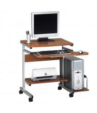 "Mayline Portrait 946 36.5"" W Steel PC Desk Cart Mobile Workstation (Shown in Medium Cherry)"