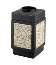 """Safco Canmeleon 38 Gal. 31.5"""" H Top Open Polyethylene Cigarette Receptacle (Shown in Black)"""