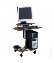 "Mayline Eastwinds 948 28.5"" W Laminate Mobile Computer Workstation (Shown in Medium Cherry)"