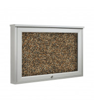Best-Rite 94HAAT-O-RT Weather Sentinel 1 Door 2' x 1.5' Top Hinge Rubber-Tak Outdoor Enclosed Cabinet - Shown in Tan