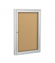 Best-Rite 95HAB Deluxe Indoor 2 x 3 Enclosed Bulletin Board Cabinet (Shown in Natural Cork)