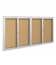 Best-Rite 95HAM Deluxe Indoor 12 x 4 Enclosed Bulletin Board Cabinet (Shown in Natural Cork)