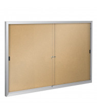 Best-Rite 95SAE Deluxe Indoor 5 x 3 Enclosed Bulletin Board Cabinet (Natural Cork)