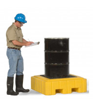"Ultratech 9607 P1 Plus 40"" W x 40"" L Spill Pallet with Drain, 62 Gallons (example of application)"