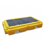 "Ultratech 9611 P2 Plus 65.5"" W x 40"" L Spill Pallet with Drain, 66 Gallons"