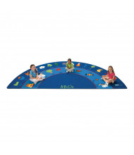 Carpets for Kids Fun with Phonics Half-Round Classroom Rug