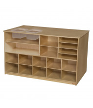 """Wood Designs Childrens Classroom Mobile Storage Unit (Still Includes Two Top Inset Trays), 30"""" H x 49"""" W x 29"""" D"""