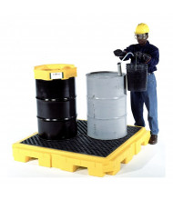 "Ultratech 9631 P4 Plus 62"" W x 62"" L Spill Pallet with Drain, 75 Gallons (example of application)"