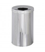 Safco Reflections 35 Gal. Open Top Trash Receptacle, Chrome