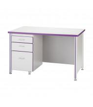 """Jonti-Craft Berries 66"""" W Teachers Desk - Shown in Purple (Pedestal not included)"""